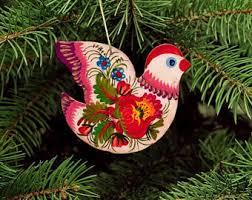 Wooden Toy Christmas Tree Decorations - ukrainian christmas etsy