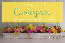 diy pallet wood centerpiece make your table beautiful graceful