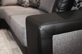 canap d angle noir simili cuir canapé d angle moderne en tissu et simili cuir avec méridienne angle