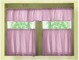 Cafe Tier Curtains Violet Purple Café Style Tier Curtain Includes 2 Valances And 2