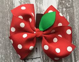 back to school hair bows mini apple hair bow back to school hair bow snow white hair