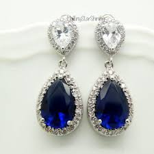 royal blue earrings shop blue sapphire earrings on wanelo