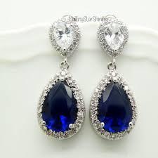 shop blue sapphire earrings on wanelo