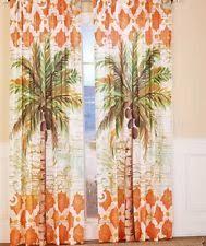 Tropical Curtain Panels Palm Tree Curtains Ebay