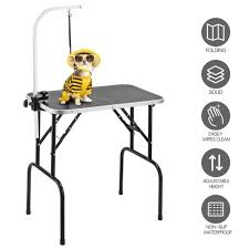 large dog grooming table foldable 32 large pet grooming table dog cat adjustable arm noose