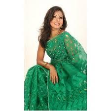 jamdani sharee green jamdani saree rajshahi bazaar র জশ হ ব জ র