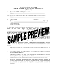 maryland subcontractor supplier lien waiver and release forms