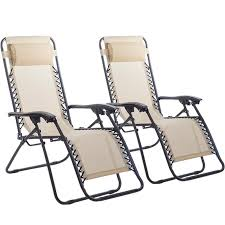 Zero Gravity Patio Chairs by New Zero Gravity Chairs Case Of 2 Lounge Patio Chairs Outdoor Yard
