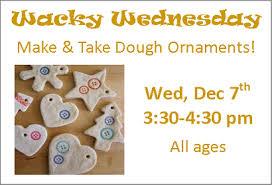 wacky wednesday dough ornaments belleville library