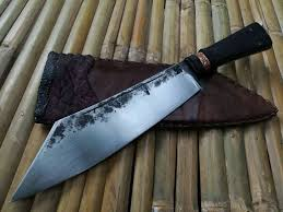 thai machete cleaver hand forged knife tactical machete