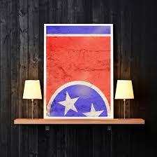 Nashville Flag Tennessee Print Nashville Print Nashville Tennessee Print