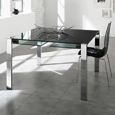 Black Glass Extending Dining Table Glass Extending Dining Tables