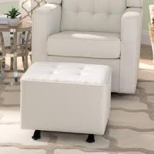ottomans gliding ottoman black white nursery glider furniture