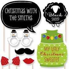 christmas photo booth props christmas family reunion family theme party photo