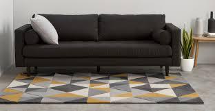 Schlafzimmer Gelber Teppich Henrik Teppich 120 X 180 Cm Gelb Und Grau Made Com