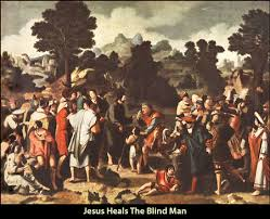 Jesus Healed The Blind Man Healing Of The Blind Man Neverthirsty