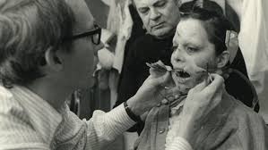 smith working on the exorcist makeup