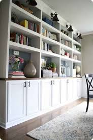 kitchen bookshelf ideas how to build diy built in bookcases from ikea billy bookshelves
