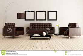 brown and white living room stock image image 19525491