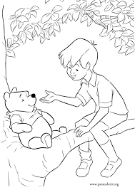 5 winnie pooh christopher robin coloring pages
