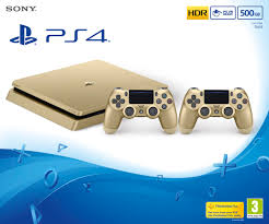 Ps 4 Ps4 Slim 500 Gb Gold Original Garansi Resmi Sony Pes 2018 ps4 500gb slim gold console with 2 ds4 v2 controllers ps4 buy