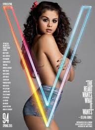 selena gomez goes and opens up about justin bieber for v