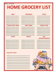 grocery list template grocery list template professional word