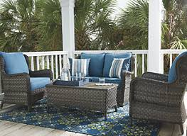 Laura Ashley Outdoor Furniture by Peckham Park 4 Piece Outdoor Sectional Set Ashley Furniture
