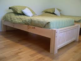 Plans For A Twin Platform Bed Frame by Diy Twin Bed Frame With Storage Build A Platform Bed Diy Twin Bed