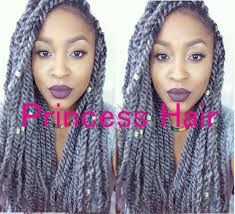 grey kinky twist hair stock factory wholesale cheap price 16 folded length 100 kanekalon