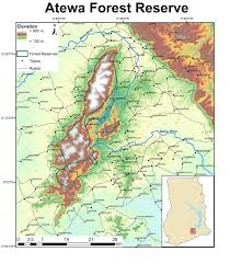 Map Of Ghana Map Of Atewa Forest Reserve