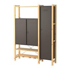 ivar ikea ivar 2 sections shelves cabinets pine grey 134x30x179 cm ikea