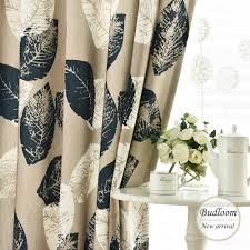 aliexpress com buy american style leaf curtains for living room