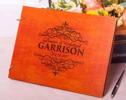 monogrammed guest book wedding guest book rustic guestbook wood guest book custom