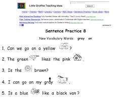 free worksheets simple sentences worksheets for kindergarten