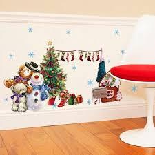 amazon com elecmotive merry christmas santa claus owls christmas tuscom christmas tree xmas gift removable wall sticker art home decor decal 31 49x17