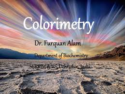 Applications Of Colorimetry In Analytical Chemistry Colorimetry
