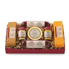 meat and cheese gift baskets summer sausage and cheese gift box hickory farms