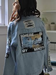 blue lapel vintage ripped boyfriend trends jean swish denim coat