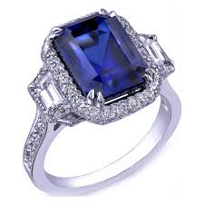 engagement rings with blue stones european engagement ring blue sapphire emerald cut ring