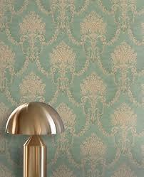 Schlafzimmer Klassisch Einrichten Tapete Farah Grün Tapeten Grün Und Tapeten Schlafzimmer