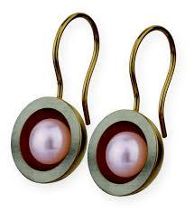 ernstes design ohrringe perlenmarkt onlineshop ernstes design ohrhänger goldenes konkav
