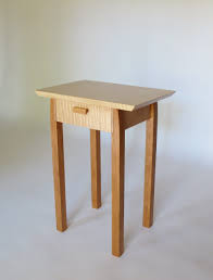 small wood end table modern wood end table with drawer storage hand crafted in virginia