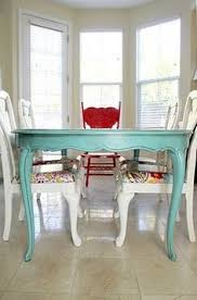 Painted Kitchen Table And Chairscolor Combo For Dining Room Gray - Painted dining room tables