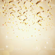 happy new year backdrop happy new year background with golden confetti stock vector