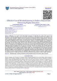 effective use of blended learning in sudan a step toward enhancing hi u2026