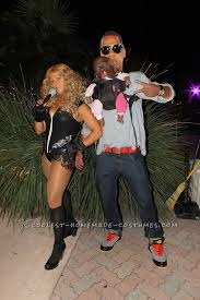 Funny Illusion Couple Costume Jay Z Beyonce And Blue Ivy Funny