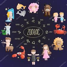 zodiac color zodiac color sign symbol cartoon illustration u2014 stock vector