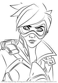 learn how to draw tracer face from overwatch overwatch step by