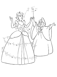 appealing cinderella colouring pages games 12 princess color